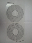Breast Electrodes, Cloth, Lectron II Conductive Gel