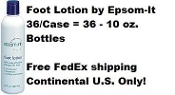 epsom-it Professional Foot Lotion - 36/Case - 10 oz. Bottles = 36/Case
