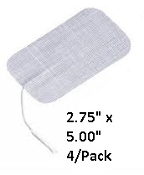"2.00"" x 3.50"" Rectangle Tan Cloth, Carbon Film, 100 ohms, TENS Electrodes, All Weather Hydrogel, Reuseable, Wholesale Electrodes, Wholesale Electrotherapy, Cost Containment, Discount Electrodes, Free Electrodes"