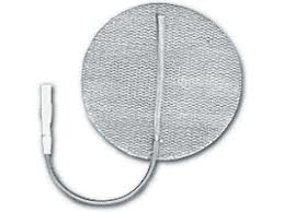 "2.00"" Round Electrodes, White Cloth, Fabric Back, Carbon Film, Latex Free, MultiStick Gel®, (NPP4002IR) 4/Pack"