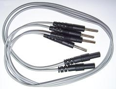 Universal TENS Device Bifurcating Lead Wire Splitters = 2 Wires = 4 Electrode Pins