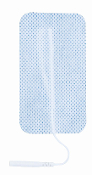 "1.50"" x 3.00"" Rectangle Electrodes, White Cloth, Carbon Film, Latex Free, 8/Packs"