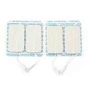 "2.00"" x 3.50"" Rectangle Electrodes, White Foam, Carbon Film, Latex Free, 4/Pack"