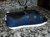 "Breg Post-Op Shoe- Velcro Strap 10.50"" L - (Dark Blue) Universal"