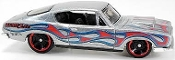 Hot Wheels '68 HEMI Barracuda Silver/Flames HW Workshop 213/250