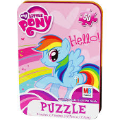 "My Little Pony - 50 Piece - 5.00"" x 7.00"" Puzzle - Tin Box"