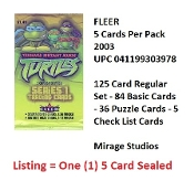 Teenage Mutant Ninja Turtles FLEER Series 1 2003 Trading Cards