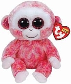 "ty Beanie Boos Ruby Monkey 7.00"" Plush"