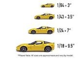 Die-Cast Vehicles Sizing Charts Scales