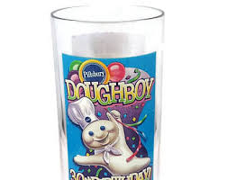 Pillsbury Doughboy 30th Birthday Collector Glass (Plastic) 1995
